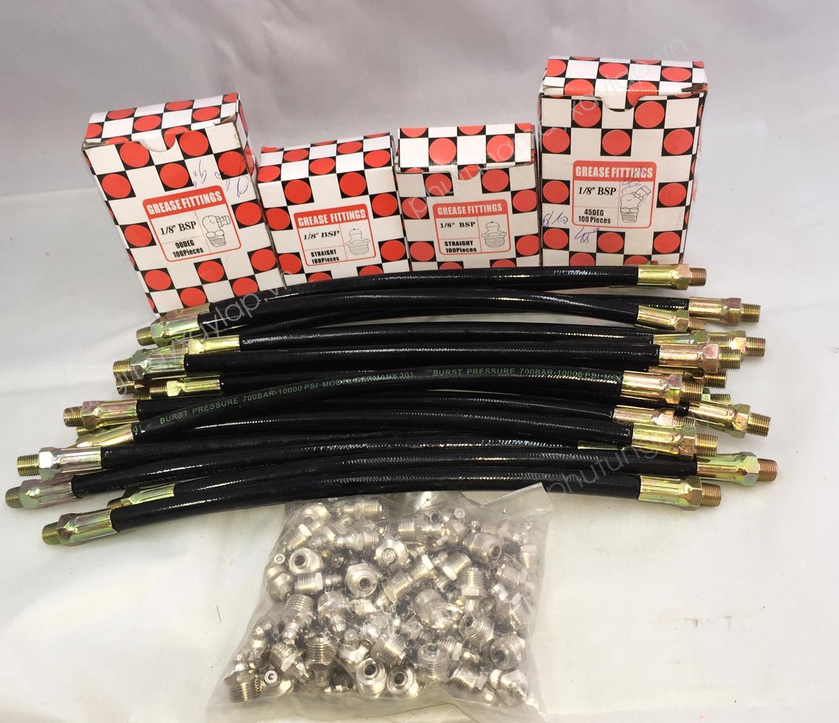 Vòi bơm mỡ ống mềm 30cm